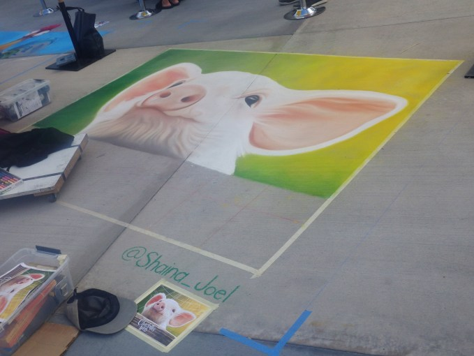 OC Fair Chalk Drawing