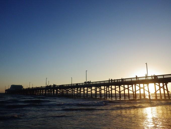 newport beach pier side