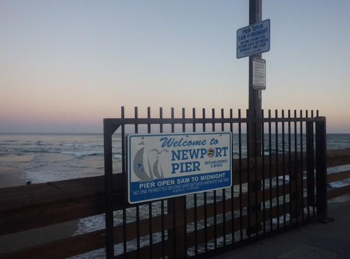 newport pier sign