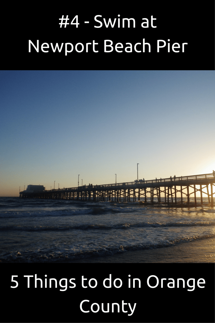 #4 – Swim at Newport Beach Pier (5 Things to do in Orange County)