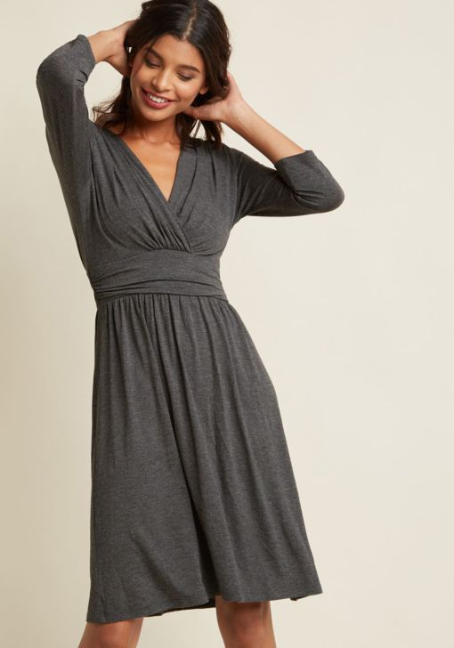 modcloth fall dresses grey