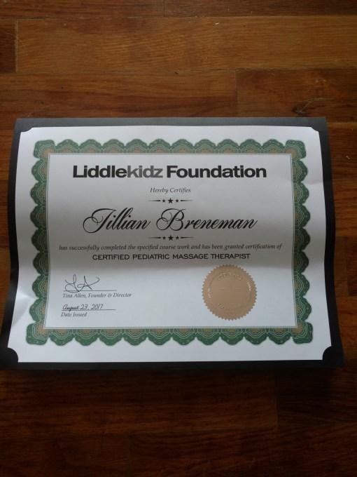 pediatric massage certificate