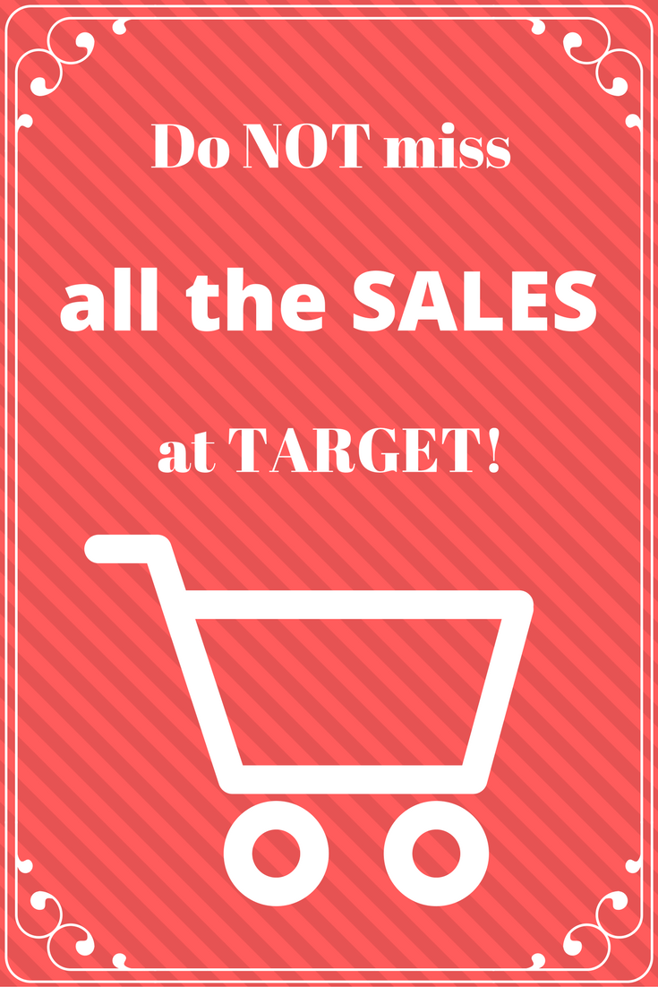 Do not miss all the sales at Target!