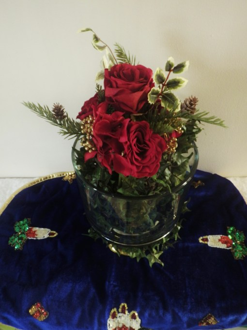 Trifle Bowl flowers