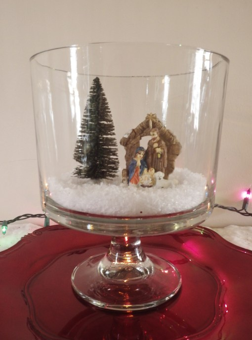 Trifle Bowl Nativity scene