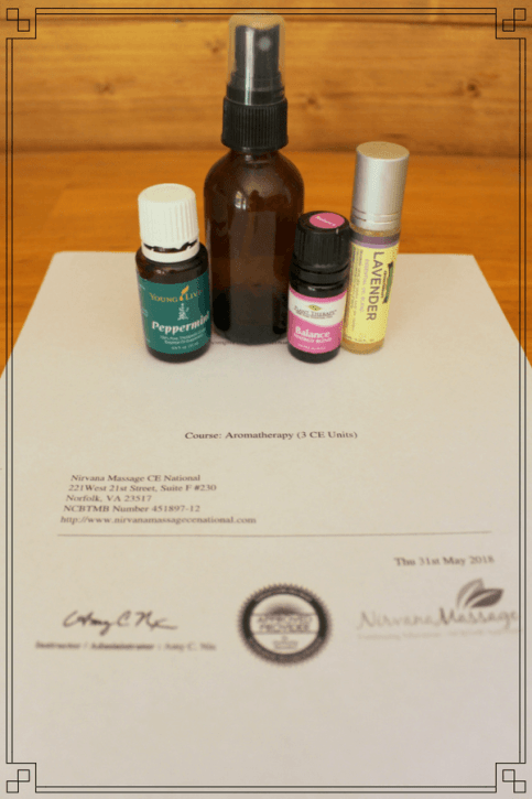 essential oils certificate
