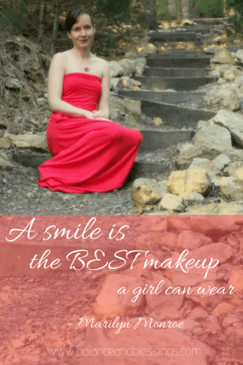 A smile is the best makeup quotes with a portraiture