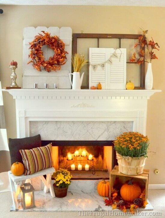 Fall decor ideas living room