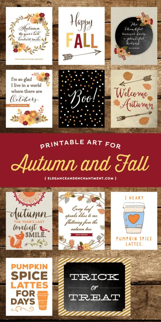 Fall decor ideas printables for fall