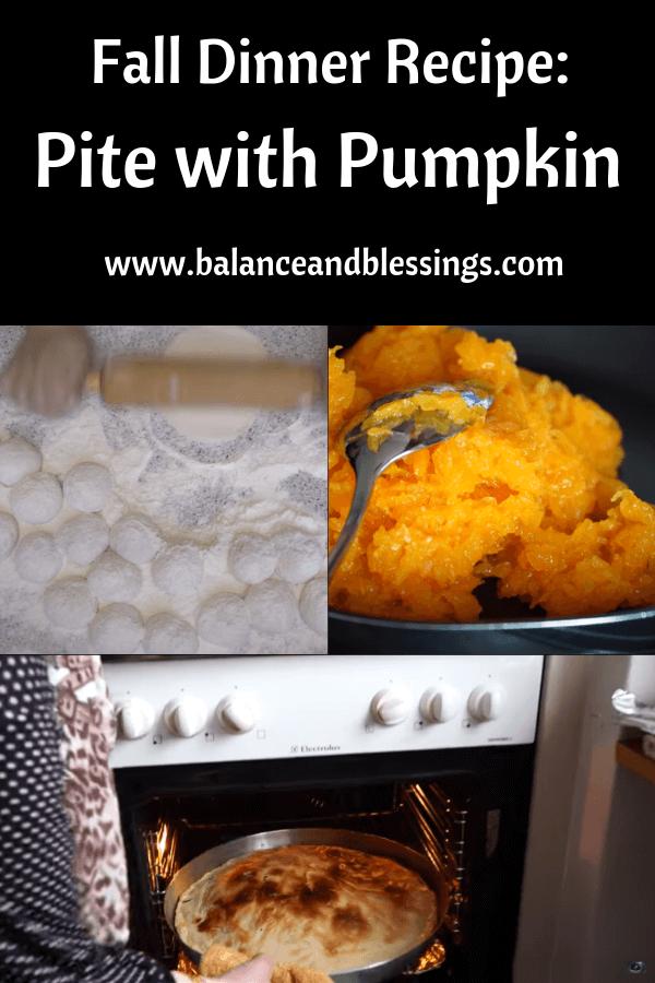 Fall Dinner Recipe pite with pumpkin