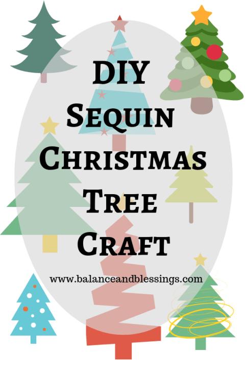 diy sequin christmas tree craft