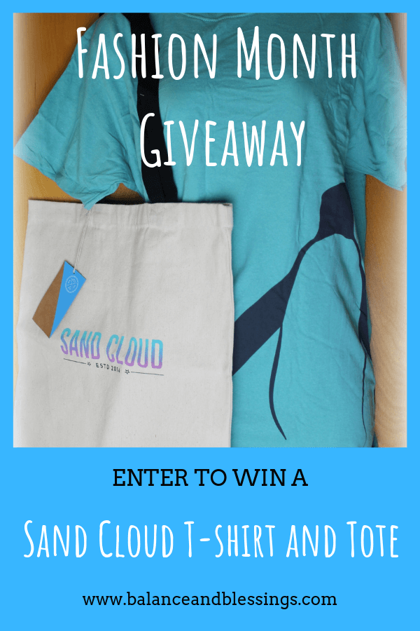 Fashion Month Giveaway – Sand Cloud T-shirt and Tote!