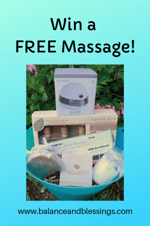 win a free massage self-care prize pack