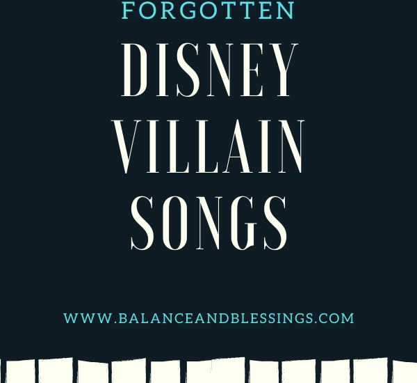 The Best Underrated and Forgotten disney villain songs