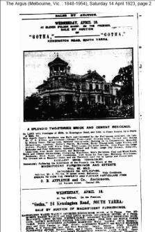 Argus article on Gotha aka Hadley Hall