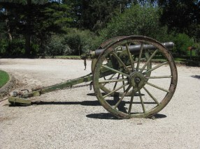 A disused cannon at Rupertswood Mansion