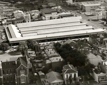 South Melbourne Market historic aerial view