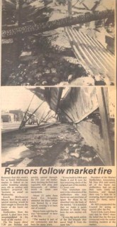 Newspaper article about South Melbourne Market Fire