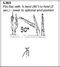 Back handspring 1:4 to handstand