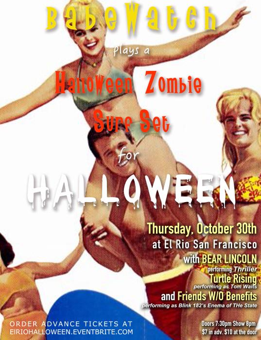 Babewatch Halloween Flier