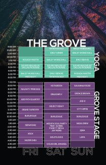 Northern Nights 2018 Set Times - The Grove