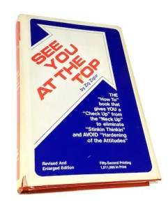 An image show Zig Ziglar's first book to be published titled See You at The Top.
