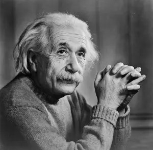 A picture of Albert Einstein is shown. He is the third of the famous failures we look at in this article.