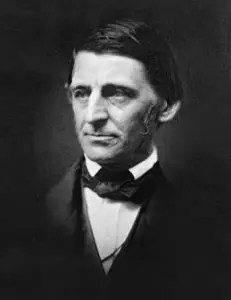 A headshot image of Ralph Waldo Emerson, who along with other famous naturalists illuminated the wisdom that can be found in nature, is pictured.