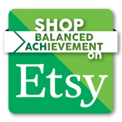 An image shows a button linking website visitors to Balanced Achievement's Etsy shop.