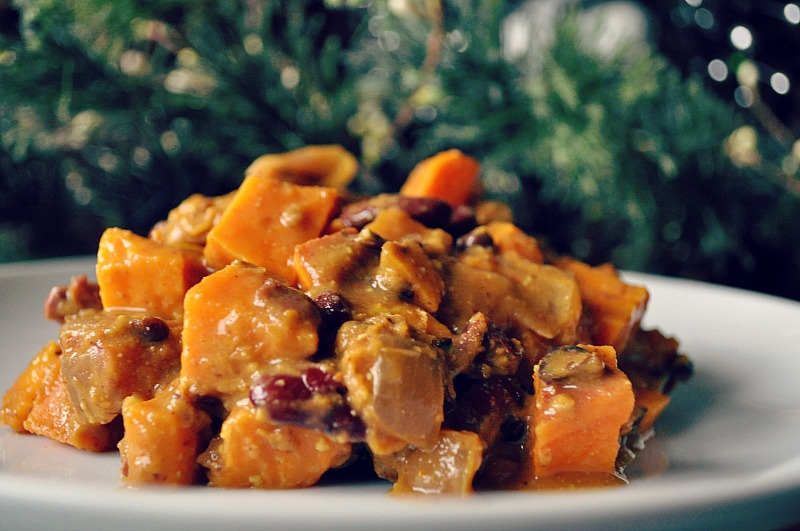sweet potato bowl with kidney beans recipe