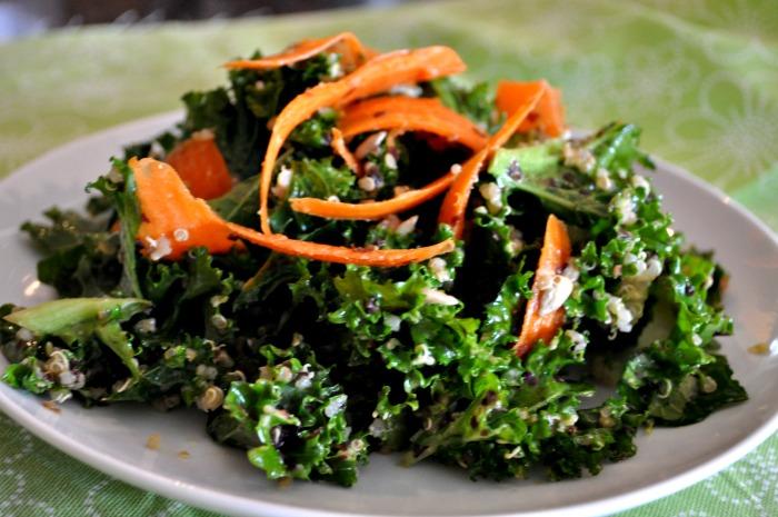 kale quinoa sunflower seed salad