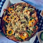 Butternut Squash and Walnut Pesto Pizza