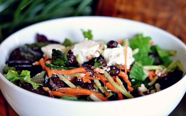 low gi black bean salad
