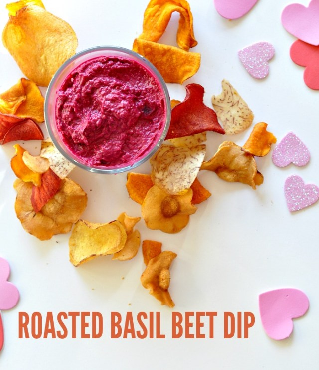 roasted basil beet dip