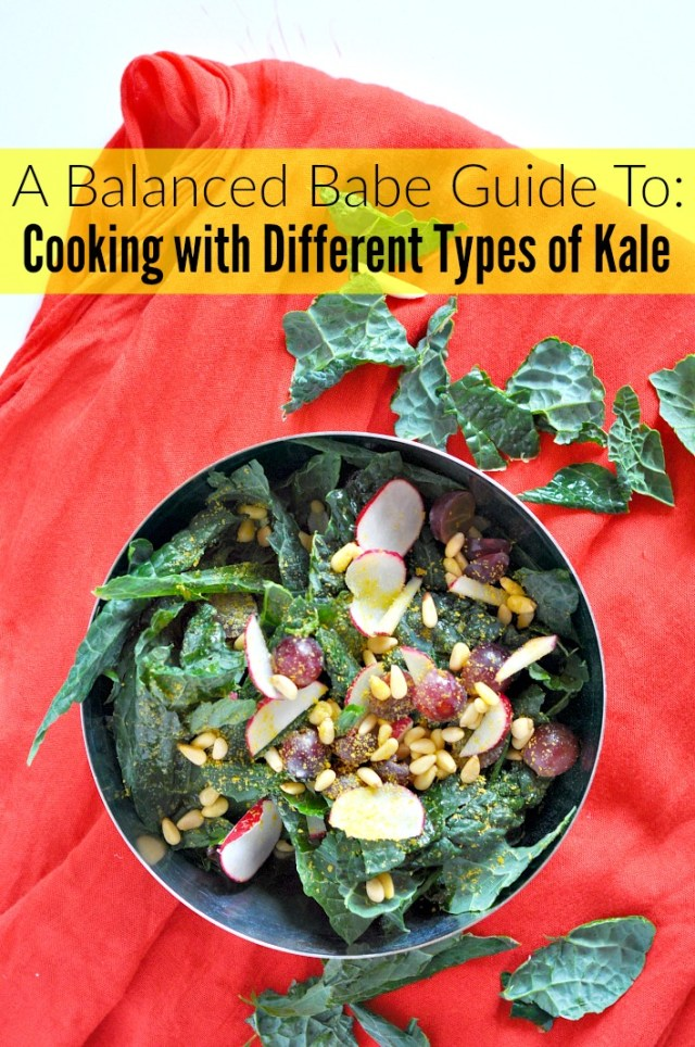 cooking with different types of kale