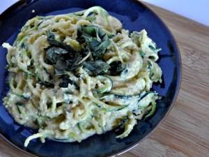 vegan plant based spaghetti alfredo