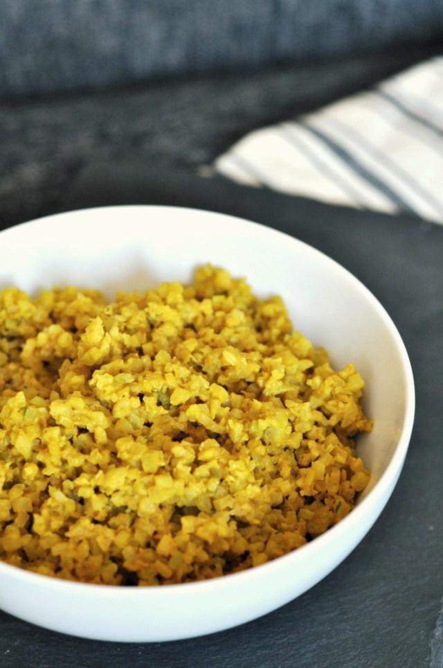 turmeric cauliflower rice