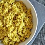 Turmeric Cauliflower Rice: Dairy Free & Low Carb