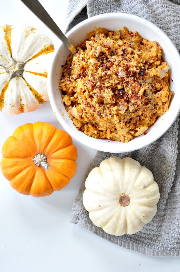 sweet potato rice with garlic sauce
