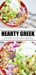 Hearty Greek Lemon Chicken Bowl