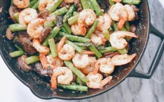 shrimp asparagus skillet