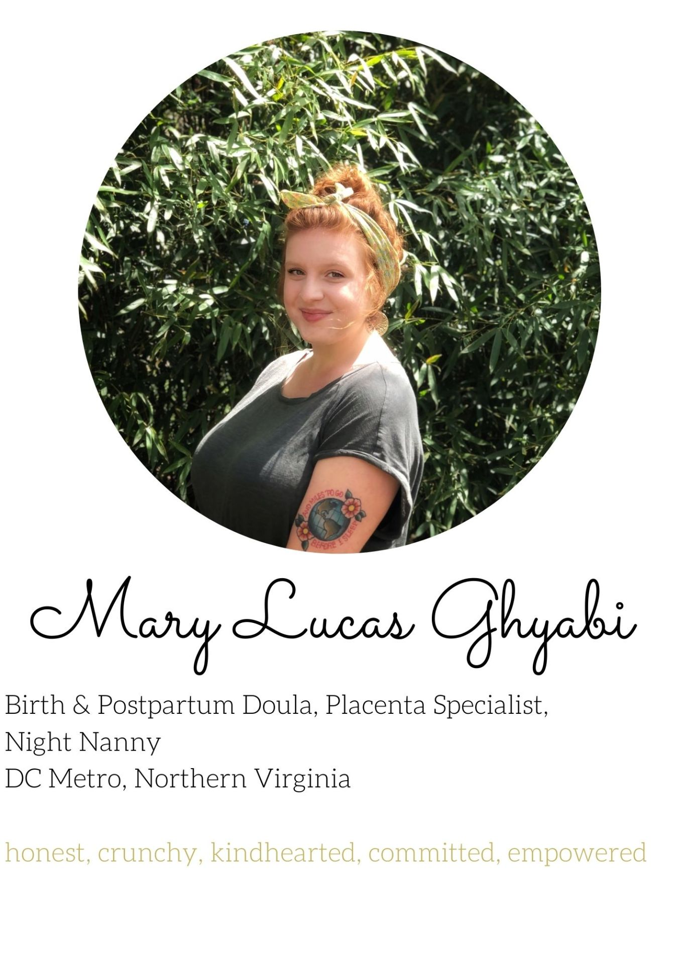 mary Ghyabi birth and postpartum doula northern virginia experienced dc