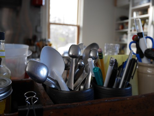 Utensils collected over the years and through travels.