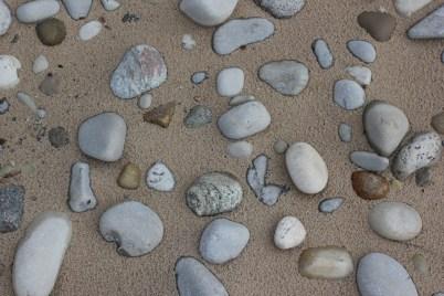 stones on the beach_lake michigan