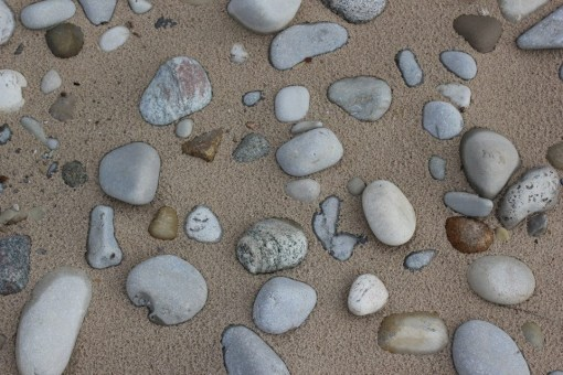 stones on the beach_lake michigan