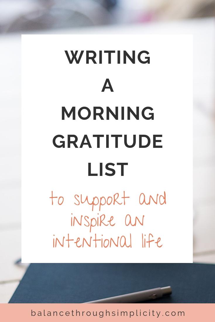 How To Write A Gratitude List