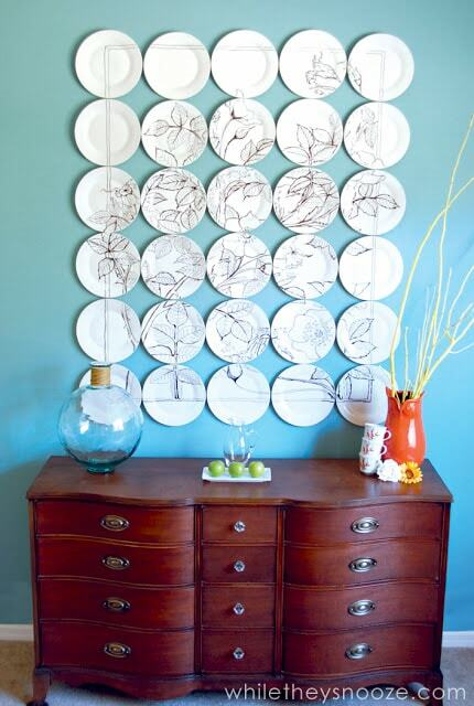 Plates on wall decor