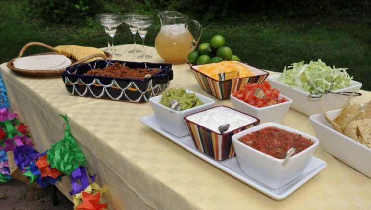taco bar food station