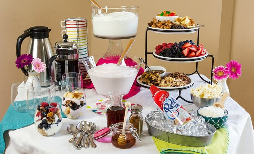 yogurt food station