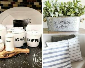 11 Farmhouse Style Decor Ideas Using Items from the Dollar Store